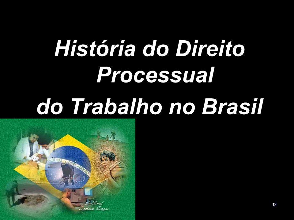 12 História do Direito Processual do Trabalho no Brasil