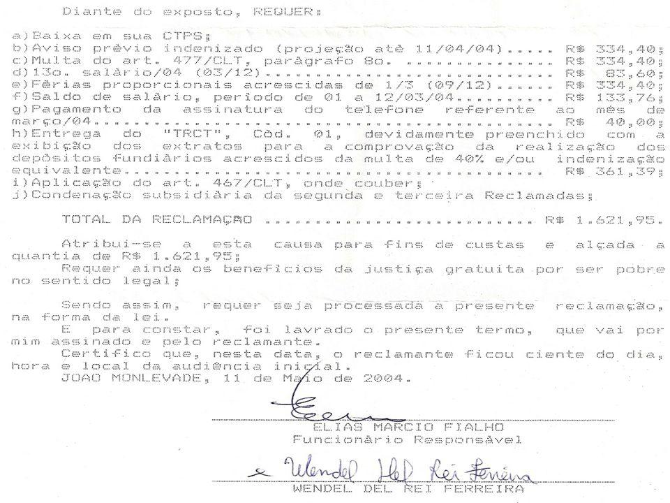 A – ASSISTENTE TÉCNICO MARCO ANTÔNIO SANTOS DA SILVA JÚNIOR Engº de Segurança do Trabalho - CREA- 99999/D Fones: Comercial (031) 3773- 0100 Celular (031) 9999 – 1234 E-mail: massjunior@yahoo.com.brmassjunior@yahoo.com.br Endereço: Rua Clara Rocha Siqueira, nº.