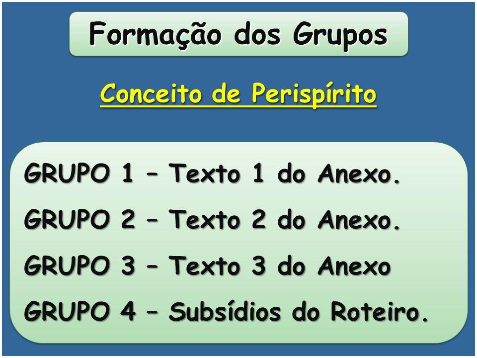 Formação dos Grupos GRUPO 1 – Texto 1 do Anexo.GRUPO 2 – Texto 2 do Anexo.
