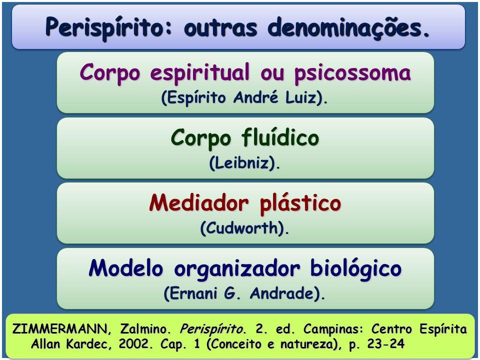 Perispírito: outras denominações.Corpo espiritual ou psicossoma (Espírito André Luiz).