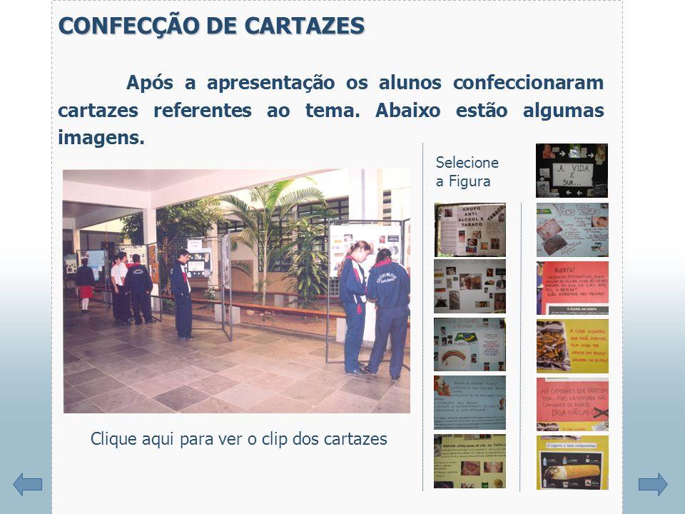 CONFECÇÃO DE CARTAZES Após a apresentação os alunos confeccionaram cartazes referentes ao tema.