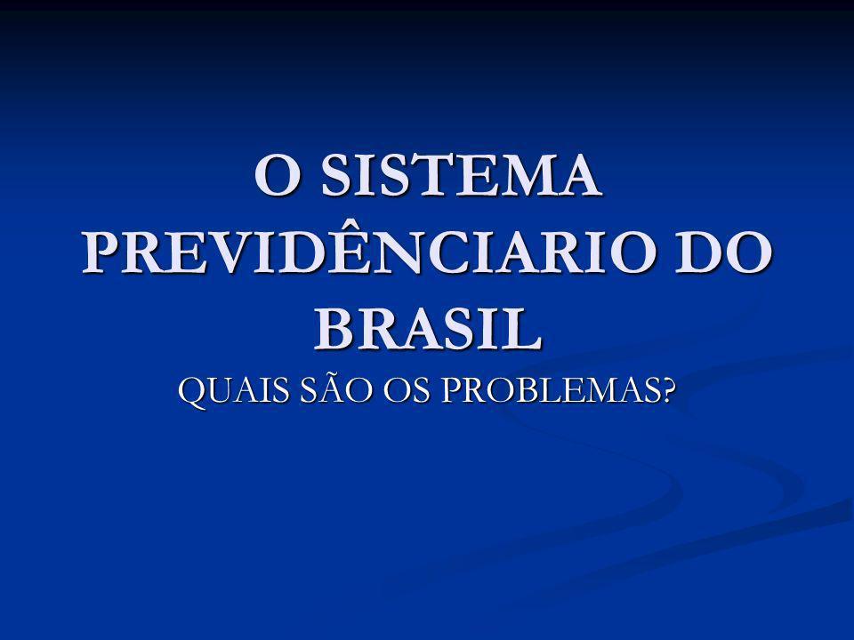O SISTEMA PREVIDÊNCIARIO DO BRASIL QUAIS SÃO OS PROBLEMAS?
