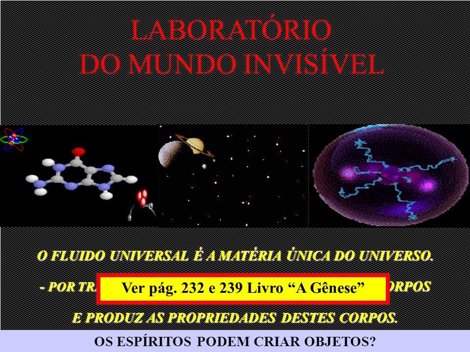 O FLUIDO UNIVERSAL É A MATÉRIA ÚNICA DO UNIVERSO.
