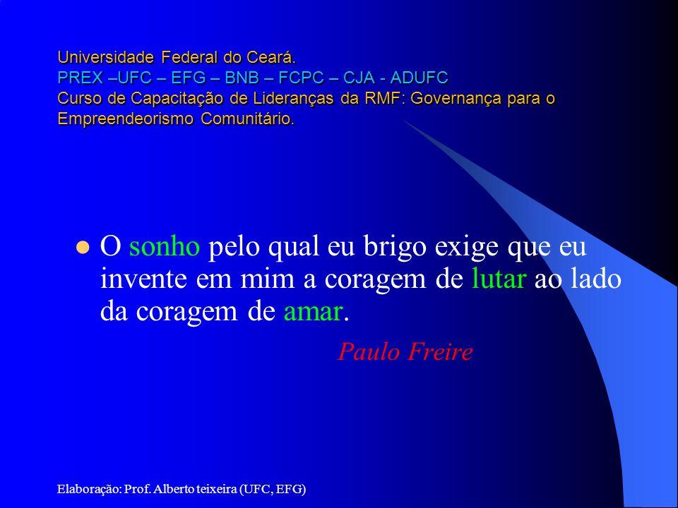 Universidade Federal do Ceará. PREX –UFC – EFG – BNB – FCPC – CJA - ADUFC Curso de Capacitação de Lideranças da RMF: Governança para o Empreendeorismo