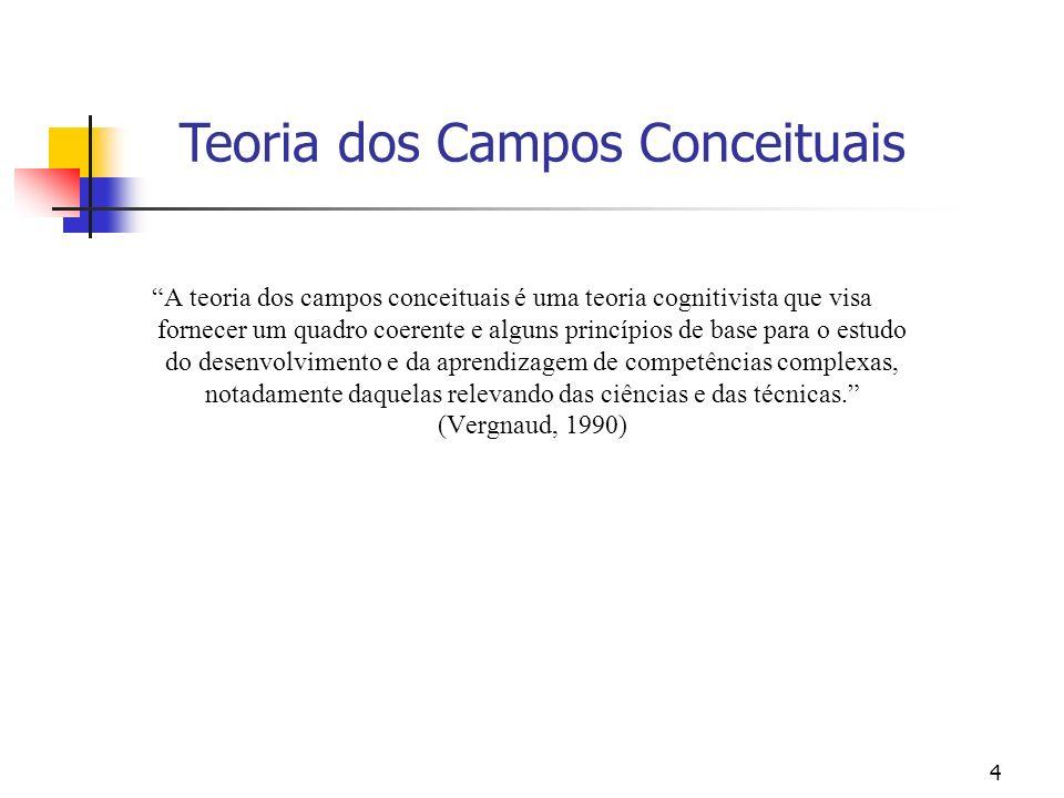 4 A teoria dos campos conceituais é uma teoria cognitivista que visa fornecer um quadro coerente e alguns princípios de base para o estudo do desenvol