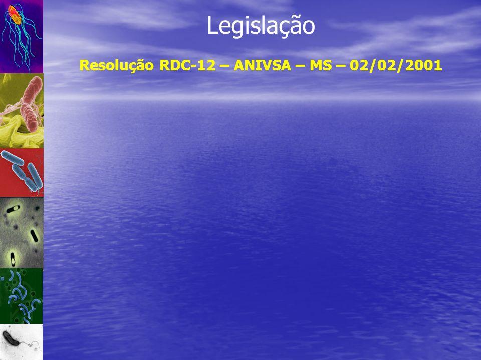 Legislação Resolução RDC-12 – ANIVSA – MS – 02/02/2001