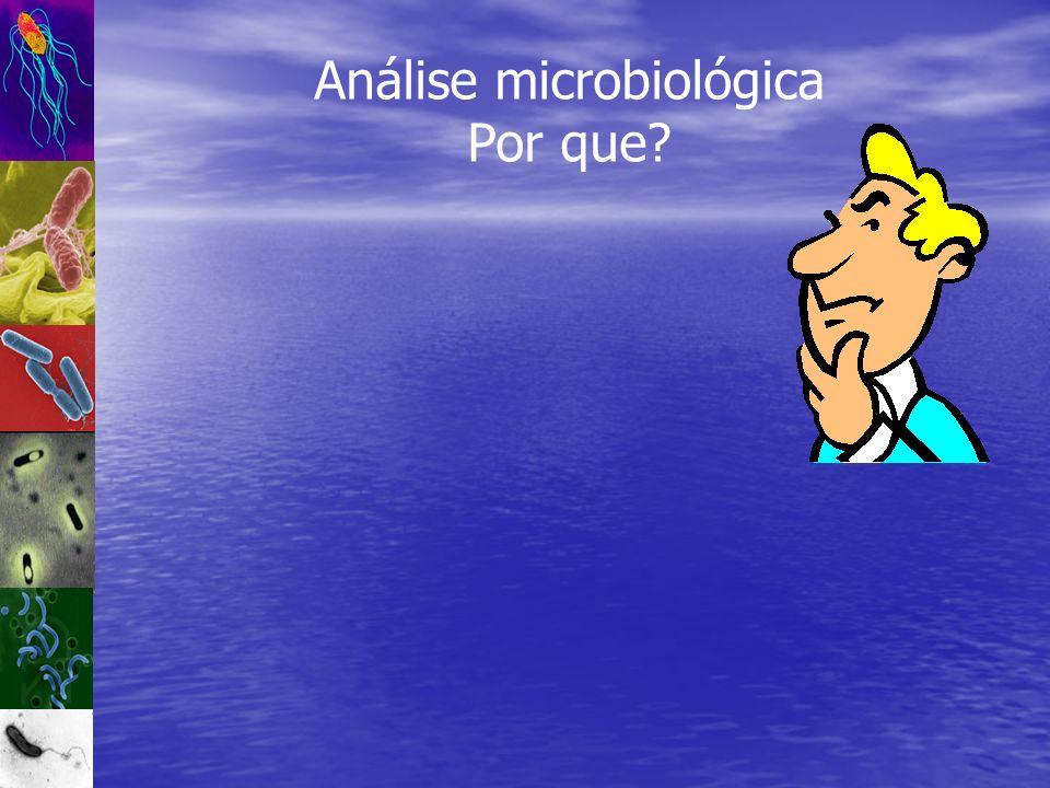 Análise microbiológica Por que?