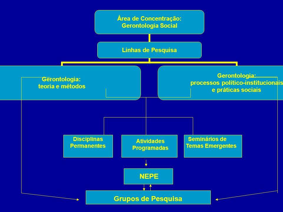 Disciplinas Permanentes Atividades Programadas Seminários de Temas Emergentes NEPE Grupos de Pesquisa