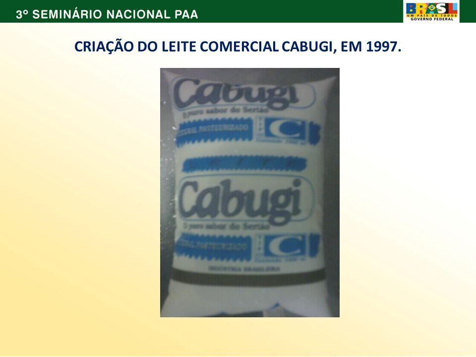 CRIAÇÃO DO LEITE COMERCIAL CABUGI, EM 1997.