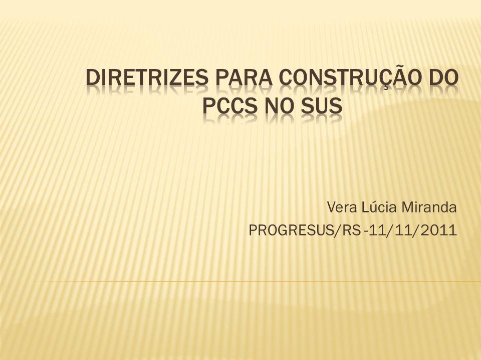Histórico: Portaria Nº 626, de 08/04/2004 EMENTA: cria a COMISSÃO ESPECIAL; Objetivo: Propor Diretrizes de Planos de Carreiras, Cargos, e Salários no âmbito do SUS.