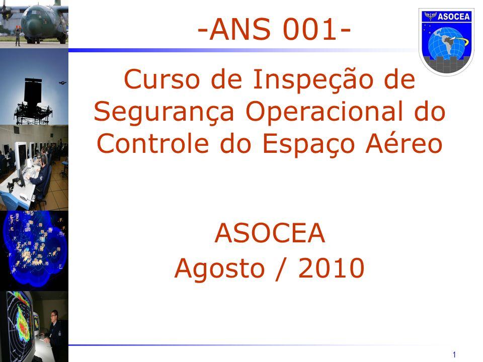 1 -ANS 001- Curso de Inspeção de Segurança Operacional do Controle do Espaço Aéreo ASOCEA Agosto / 2010