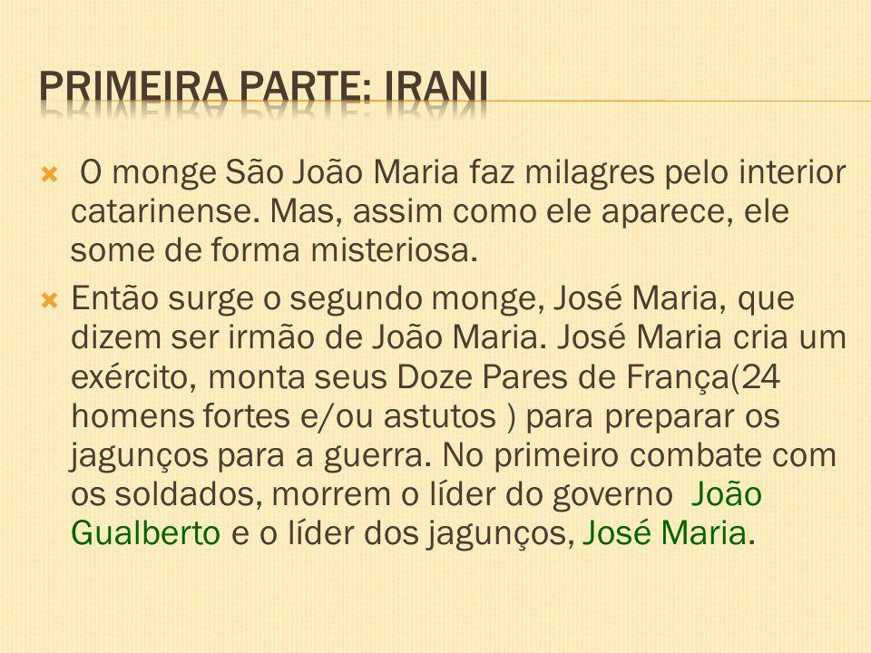 O monge São João Maria faz milagres pelo interior catarinense. Mas, assim como ele aparece, ele some de forma misteriosa. Então surge o segundo monge,