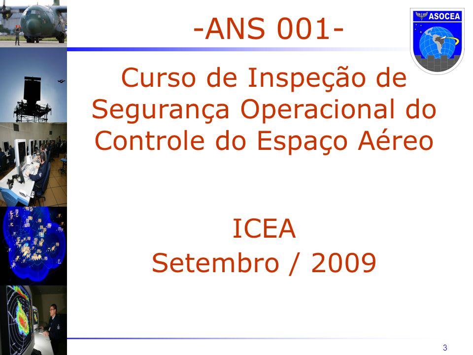 3 -ANS 001- Curso de Inspeção de Segurança Operacional do Controle do Espaço Aéreo ICEA Setembro / 2009