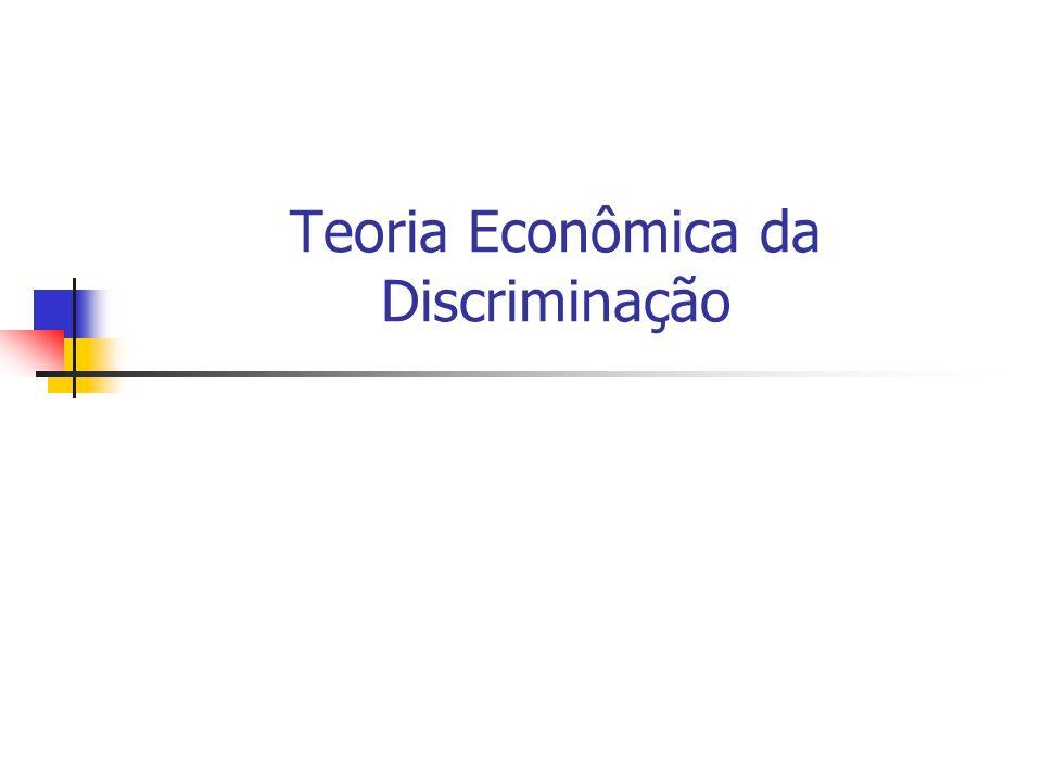 Teoria Econômica da Discriminação