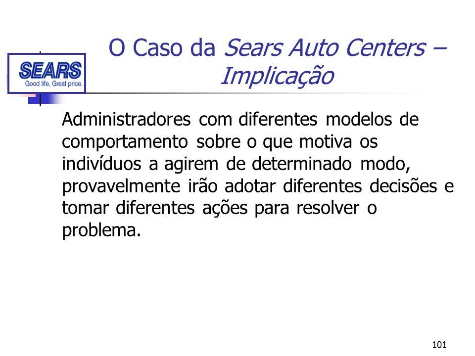 101 O Caso da Sears Auto Centers – Implicação Administradores com diferentes modelos de comportamento sobre o que motiva os indivíduos a agirem de det
