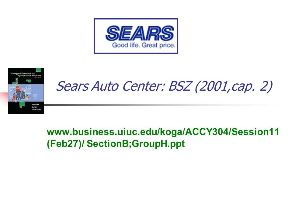 Sears Auto Center: BSZ (2001,cap. 2) www.business.uiuc.edu/koga/ACCY304/Session11 (Feb27)/ SectionB;GroupH.ppt