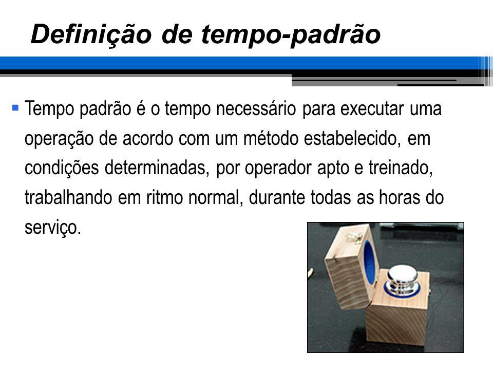 CALCULAR O TEMPO-PADRÃO (T P ) Fixar o TP por elemento e posteriormente da operação.