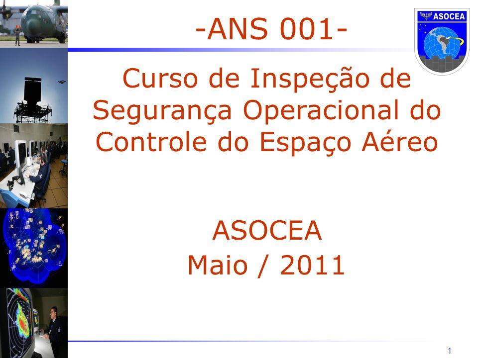 1 -ANS 001- Curso de Inspeção de Segurança Operacional do Controle do Espaço Aéreo ASOCEA Maio / 2011