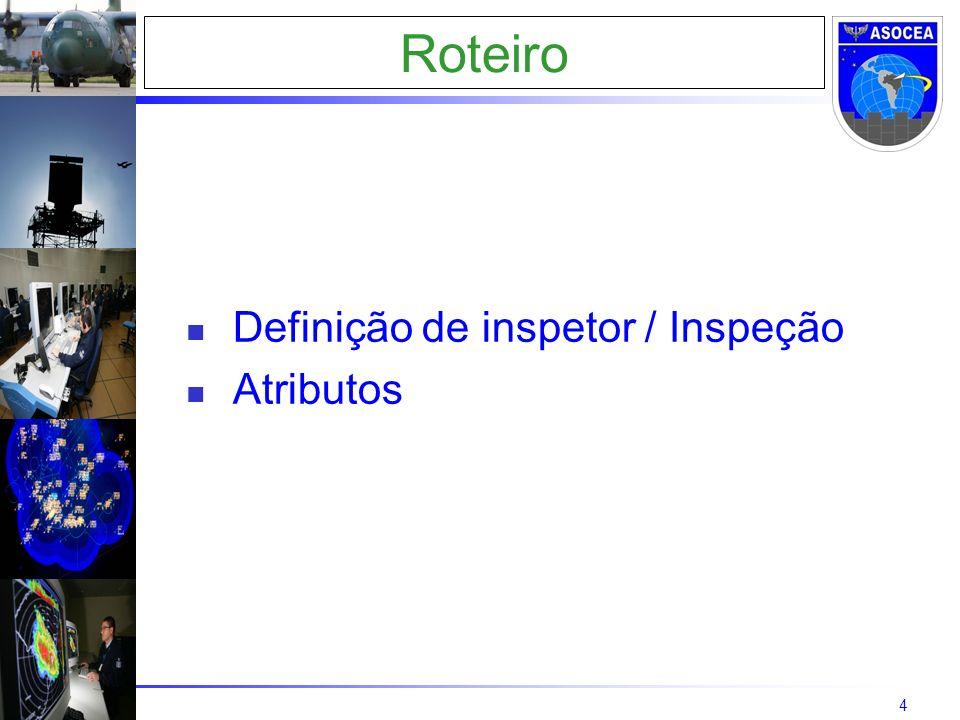4 Roteiro Definição de inspetor / Inspeção Atributos