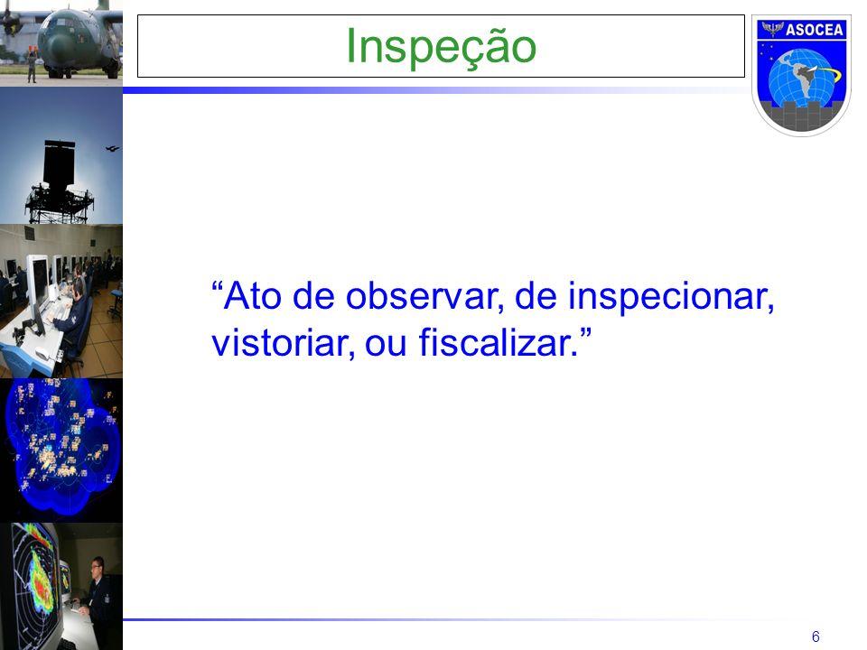 6 Inspeção Ato de observar, de inspecionar, vistoriar, ou fiscalizar.