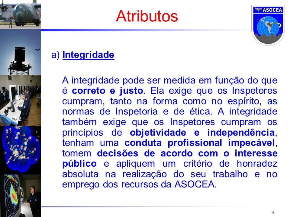 9 a) Integridade A integridade pode ser medida em função do que é correto e justo. Ela exige que os Inspetores cumpram, tanto na forma como no espírit
