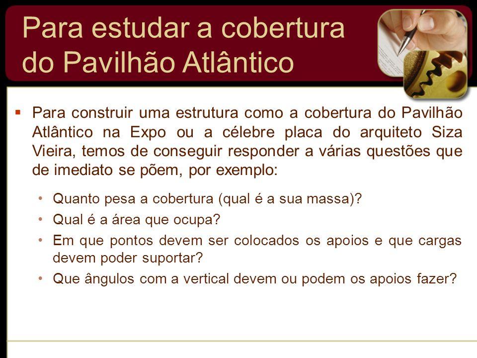 Para construir uma estrutura como a cobertura do Pavilhão Atlântico na Expo ou a célebre placa do arquiteto Siza Vieira, temos de conseguir responder