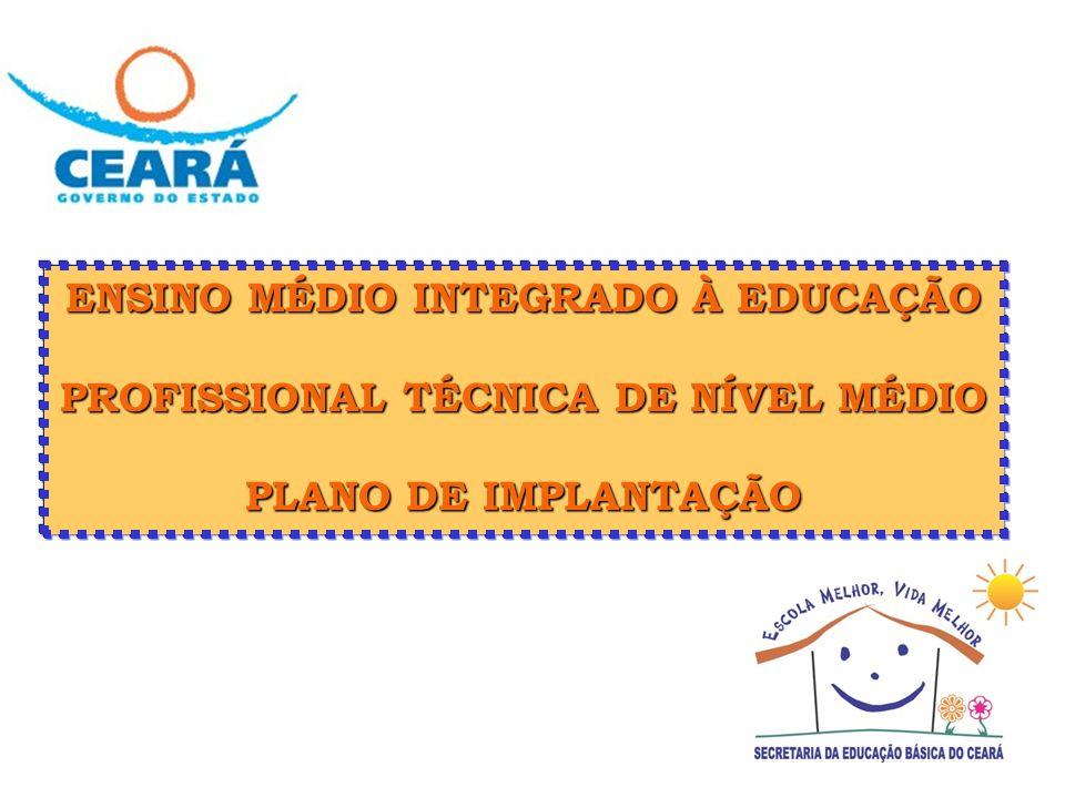ENSINO MÉDIO INTEGRADO À EDUCAÇÃO PROFISSIONAL TÉCNICA DE NÍVEL MÉDIO PLANO DE IMPLANTAÇÃO