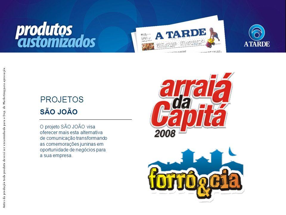 SÃO JOÃO O projeto SÃO JOÃO visa oferecer mais esta alternativa de comunicação transformando as comemorações juninas em oportunidade de negócios para