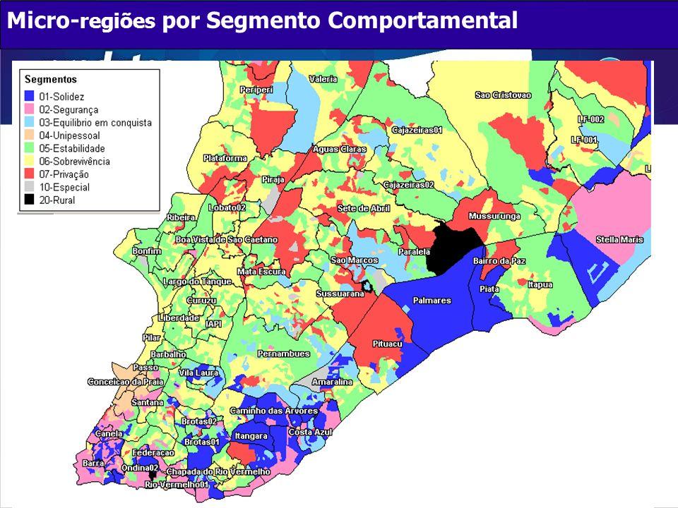Micro- regiões por Segmento Comportamental