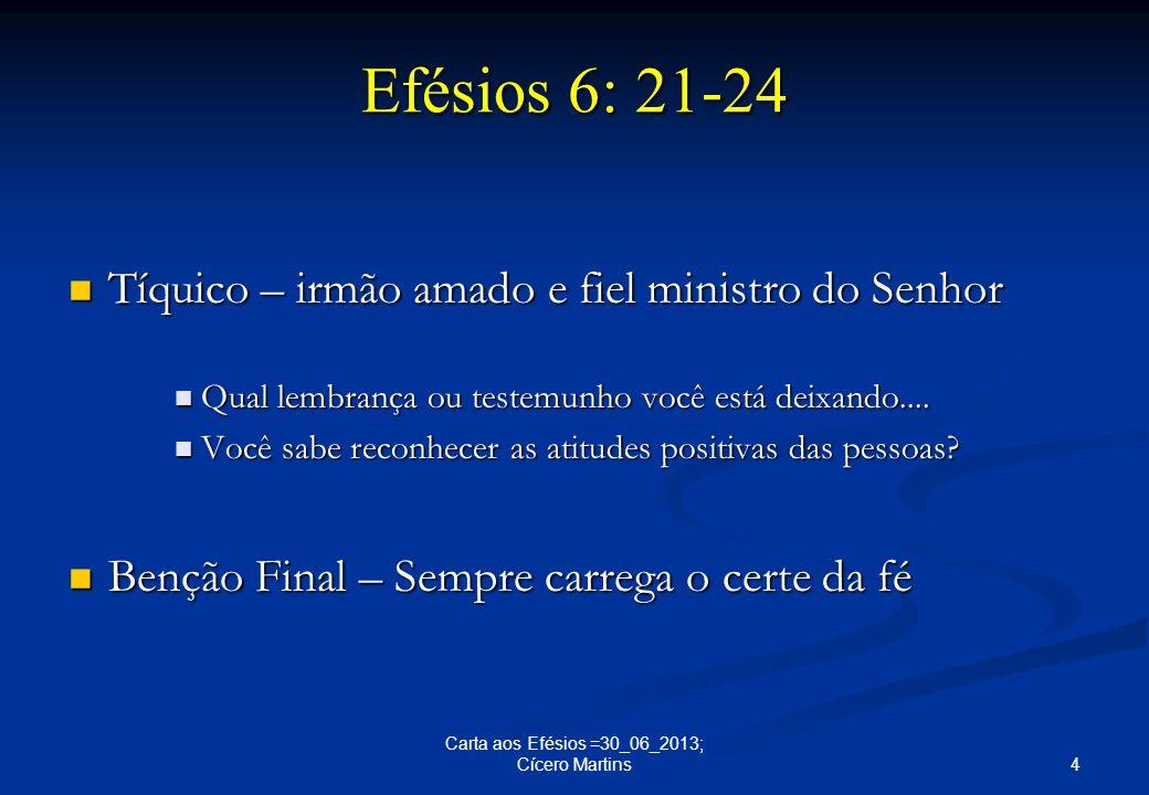 Tíquico – irmão amado e fiel ministro do Senhor Tíquico – irmão amado e fiel ministro do Senhor Qual lembrança ou testemunho você está deixando.... Qu