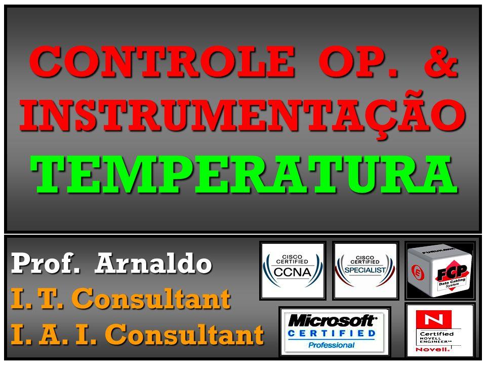 V = VJM – VJR V = 2,25 mV - 1,22 mV V = 1,03 mV T = 20°C Temperatura Cálculo ErradaValor Correto indicadoTermômetro deveria ser50°C; A Temperatura no Cálculo está Errada, pois o Valor Correto a ser indicado no Termômetro deveria ser = 50°C ; calcular corretamente Para se calcular corretamente Temperatura do Processo Seqüência : a Temperatura do Processo deve-se efetuar a Seqüência : JM FEM = VJM - VJR FEM FEM = 2,25 - 1,22 FEM FEM = 1,03 mV FEM CA = FEM + mV * * Tambiente * referente à Tambiente realizar Correta para realizar Correta Compensação Op.