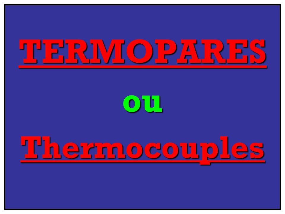 TERMOPARES & seus TiposOperacionais