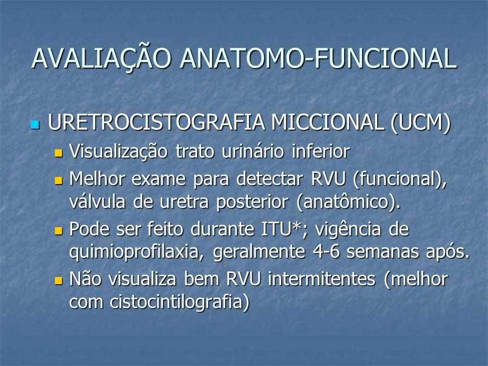 AVALIAÇÃO ANATOMO-FUNCIONAL URETROCISTOGRAFIA MICCIONAL (UCM) URETROCISTOGRAFIA MICCIONAL (UCM) Visualização trato urinário inferior Visualização trat
