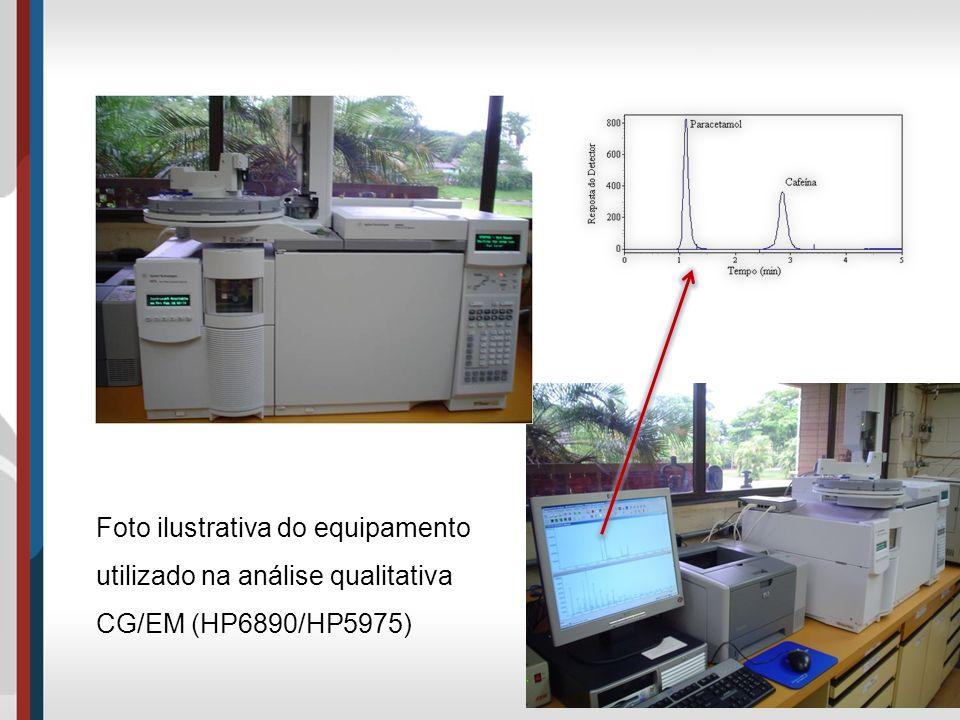 Foto ilustrativa do equipamento utilizado na análise qualitativa CG/EM (HP6890/HP5975)