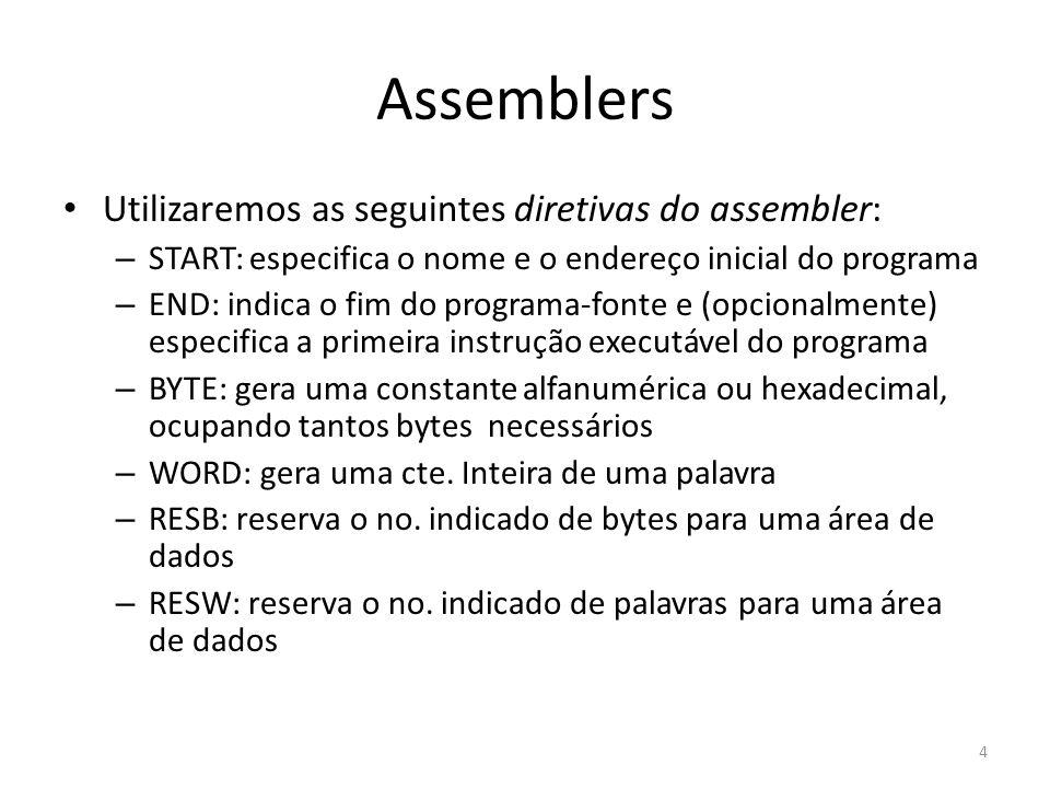 Um assemblers simples para o SIC 15