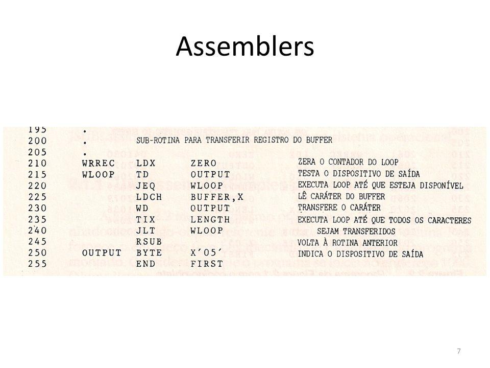 A rotina principal lê registros de um dispositivo de entrada (cód.