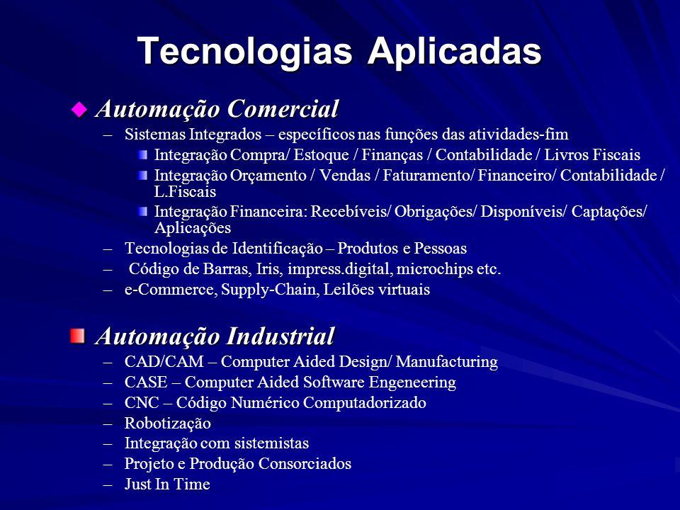 u Automação Comercial – –Sistemas Integrados – específicos nas funções das atividades-fim Integração Compra/ Estoque / Finanças / Contabilidade / Livr