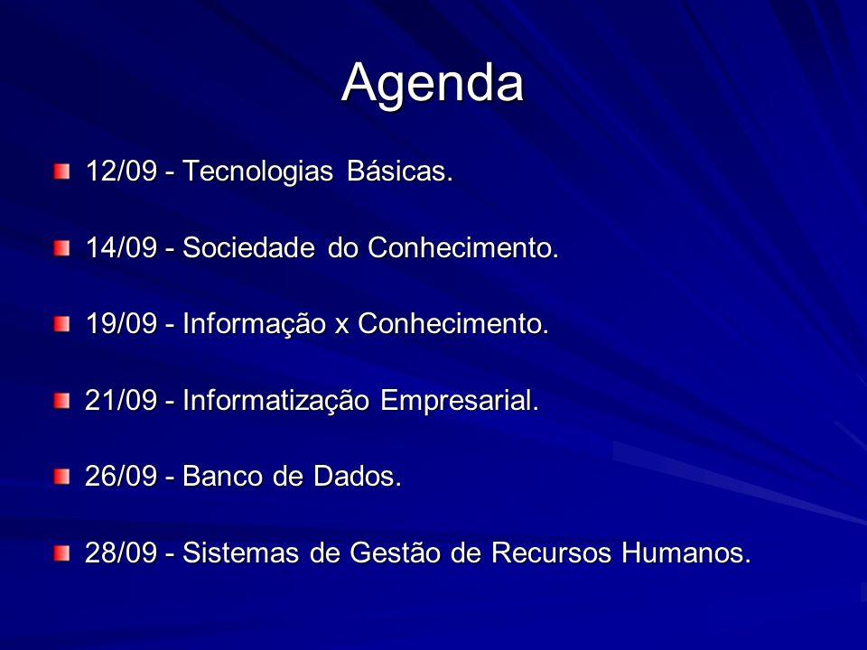 A Sociedade do Conhecimento A Gênese: A Evolução da Sociedade Humana O Quadro Ambiental Contemporâneo: Tecnologias Aplicadas