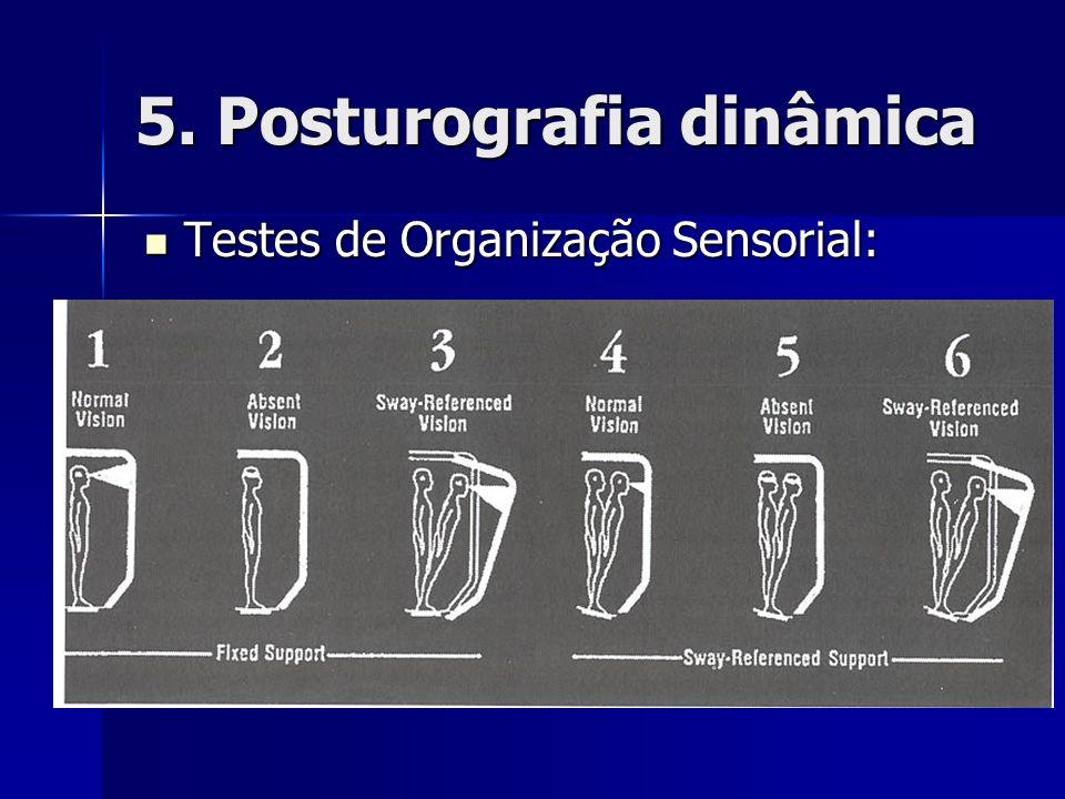 5. Posturografia dinâmica Testes de Organização Sensorial: Testes de Organização Sensorial: