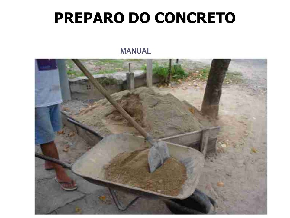 Areia média MANUAL PREPARO DO CONCRETO