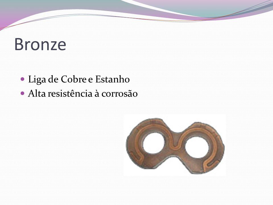 Bronze Liga de Cobre e Estanho Alta resistência à corrosão