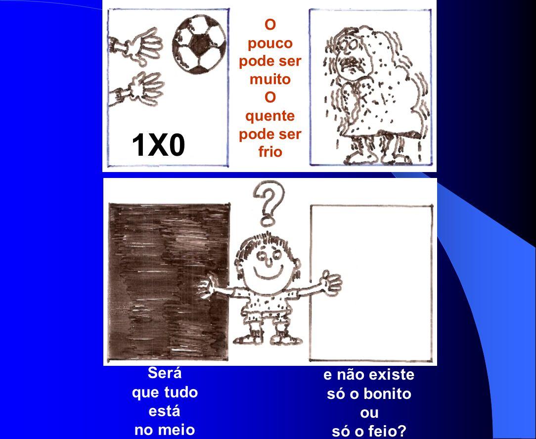 1X0X O pouco pode ser muito O quente pode ser frio Será que tudo está no meio e não existe só o bonito ou só o feio?