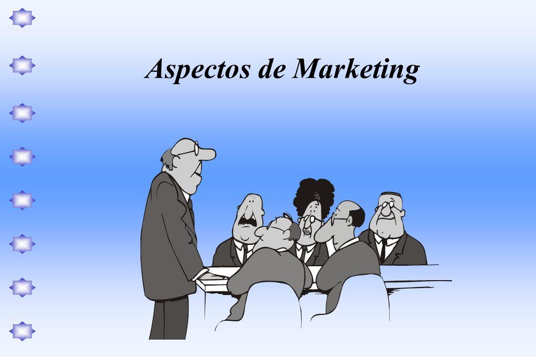 Na análise sobre os aspectos de marketing os principais enfoques ou questões de análise são: Pesquisa de mercado, comportamento do consumidor, participação no mercado; Os meios de comunicação, as propagandas, os preços, e as políticas de vendas.