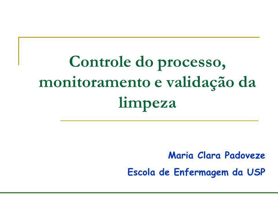 Controle do processo, monitoramento e validação da limpeza Maria Clara Padoveze Escola de Enfermagem da USP