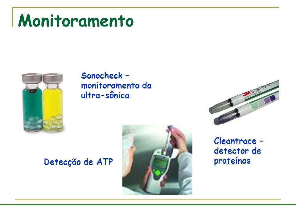 Monitoramento Sonocheck – monitoramento da ultra-sônica Cleantrace – detector de proteínas Detecção de ATP