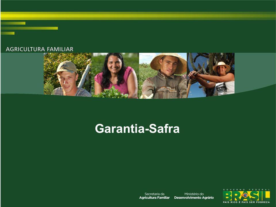 UF % Médio de municípios que receberam % Médio de agricultores que receberam PB72,88%76,2% PI65,21%68,5% PE60,21%72,3% CE51,7%61,3% RN56,33%70,22% AL39,39%17,6% MG45,9%44,9% BA61,0%70,0% MA56,0%70,56% SE29,23%42,37% Total60,2%64,9% Sinistralidade média por UF - Safra 2002/2003 a 2009/2010