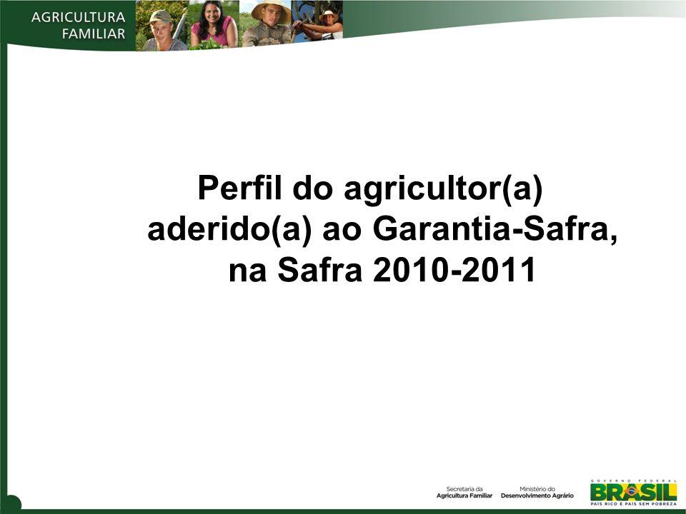 Perfil do agricultor(a) aderido(a) ao Garantia-Safra, na Safra 2010-2011