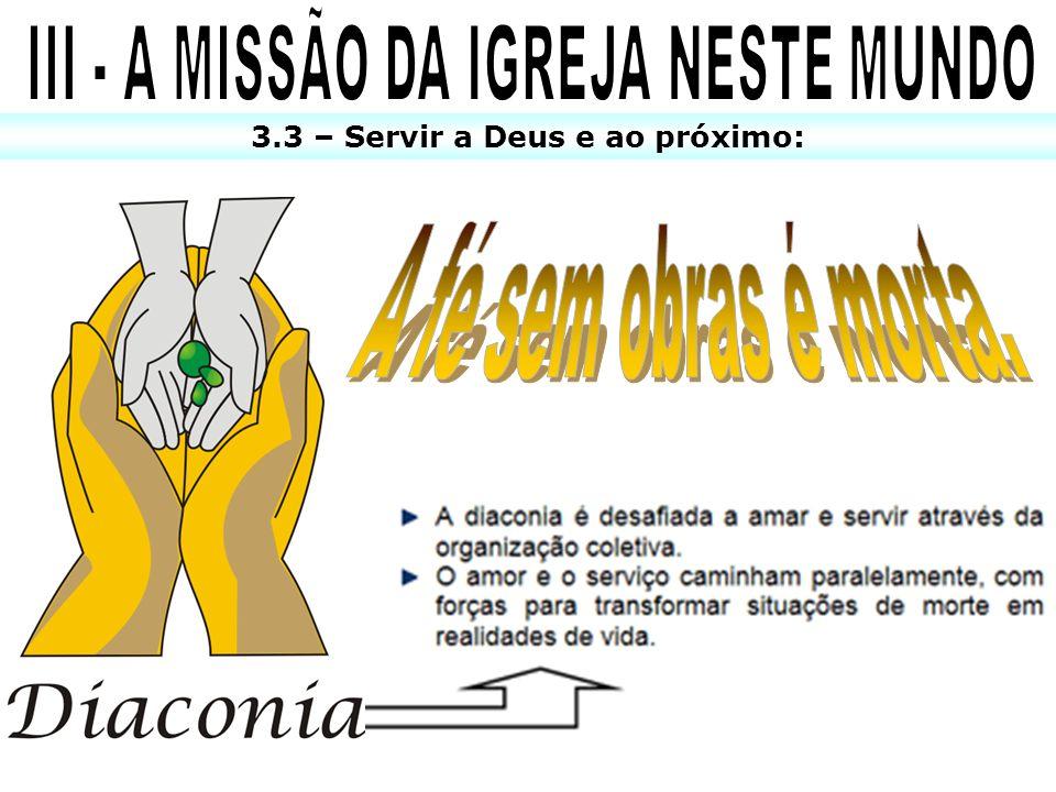 3.3 – Servir a Deus e ao próximo: X