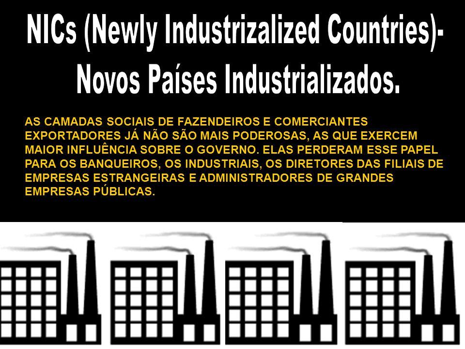 AS CAMADAS SOCIAIS DE FAZENDEIROS E COMERCIANTES EXPORTADORES JÁ NÃO SÃO MAIS PODEROSAS, AS QUE EXERCEM MAIOR INFLUÊNCIA SOBRE O GOVERNO. ELAS PERDERA