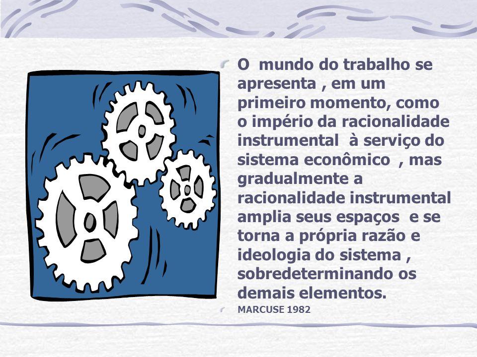 O mundo do trabalho se apresenta, em um primeiro momento, como o império da racionalidade instrumental à serviço do sistema econômico, mas gradualment
